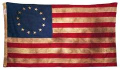 Betsy Ross Vintage Tea-Dyed Flag