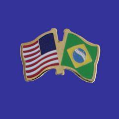 Brazil & U.S. Lapel Pin