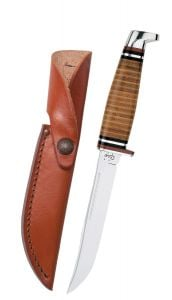 "Case Leather 5"" Utility Hunter with Leather Sheath"