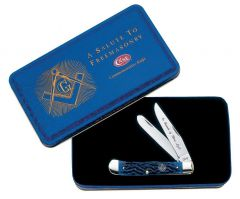 Case Masonic Gift Tin Standard Jig Blue Bone Trapper