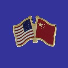 China & U.S. Lapel Pin