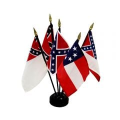 5 Flag Set - Flags of the Confederacy - 4'' x 6''