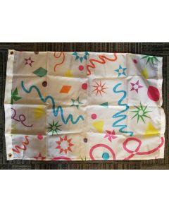 Confetti Design Nylon Flag - Nylon - 2'x3' - Confetti Design