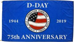 D-Day 75th Anniversary Flag