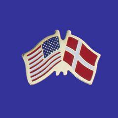 Denmark & U.S. Lapel Pin