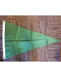 Solid Color Nylon Pennant Flag - Nylon - 2' x 3' - Emerald Green