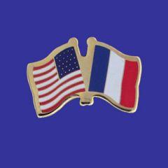 France & U.S. Lapel Pin
