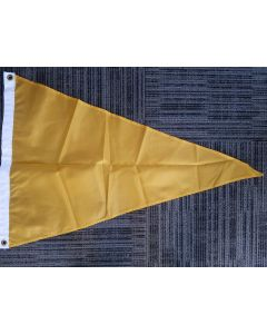 Solid Color Nylon Pennant Flag - Nylon - 2' x 3' - Gold