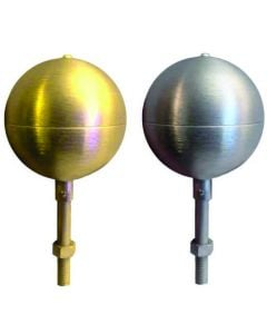 Gold or Silver Finish Flagpole Ornament
