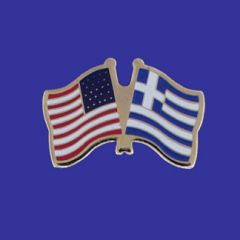 Greece & U.S. Lapel Pin