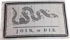 Join or Die Flag (Benjamin Franklin) Flag - Nylon - 3' x 5'