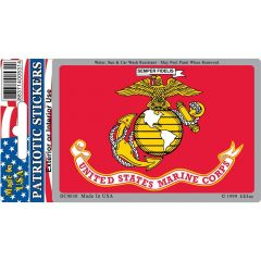 Marine Corps Flag - Vinyl DECAL - 3''x4''