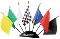 Nascar Racing Flag Set With Base