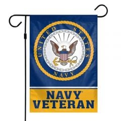 Navy Veteran Garden Flag