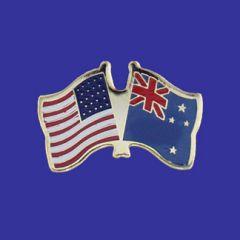 New Zealand & U.S. Lapel Pin