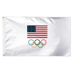 USA Olympic Team Flag White
