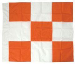 Orange & White Checkered Airfield Safety Flag 3'x3'
