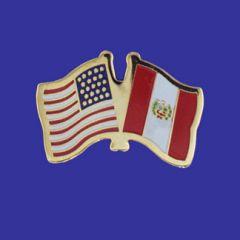 Peru & U.S. Lapel Pin