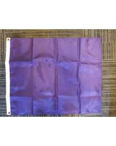 Solid Color Nylon Flag - Nylon - 2'x3' - Purple