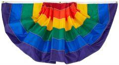 Rainbow Pleated Fan