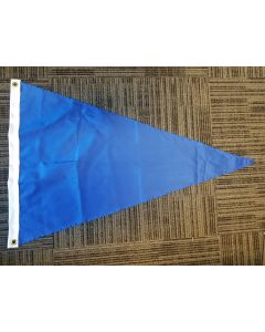 Solid Color Nylon Pennant Flag - Nylon - 2' x 3' - Royal Blue