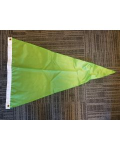 Solid Color Nylon Pennant Flag - Nylon - 2' x 3' - Scarab Green