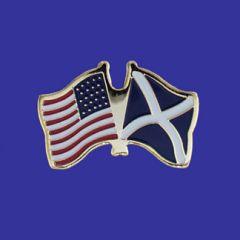Scotland Cross & U.S. Lapel Pin