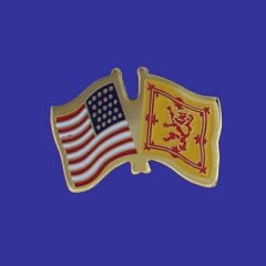 Scotland Lion & U.S. Lapel Pin
