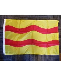 Sewn Wave Nylon flag- 2'x3' - FM Yellow/Canada Red