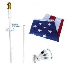 Spinning Flagpole USA Kit - Annin Estate Set