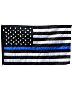 Thin Blue Line USA Flag Fully Sewn