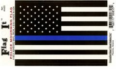 Thin Blue Line USA Flag Decal Sticker