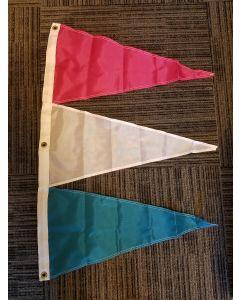 Tri-Pennant Nylon Flag - 3'x2' - Magenta/White/Turquoise