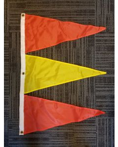 Tri-Pennant Nylon Flag - 3'x2' - Orange/FM Yellow/Orange