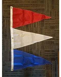 Tri-Pennant Nylon Flag - 3'x2' - Canada Red/White/Royal Blue
