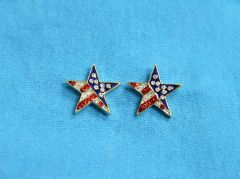 Rhinestone Star USA Earrings