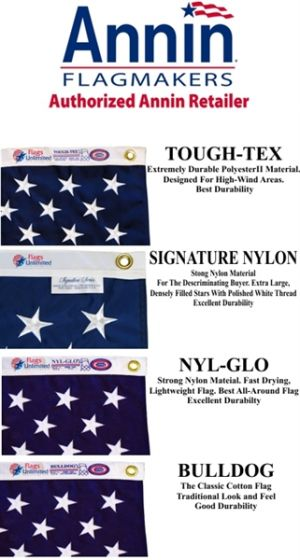 Annin American Flags from Flags Unlimited | US Flags