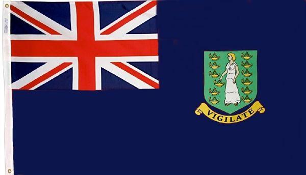 Virgin Islands Country Flag Reflective Decal Bumper Sticker
