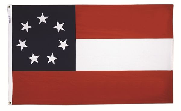 Stars & Bars flag, First Confederate flag from Flags Unlimited ...