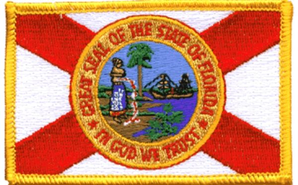 State Of Florida Embroidered Iron On Patch Travel Souvenir Flag FL