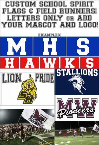 School Spirit Flags, Field Runners, Football Flags and Cheer