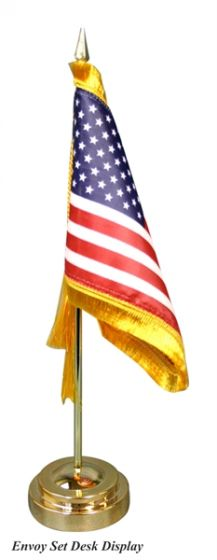 """Alabama 4/""""x6/"""" Flag Desk Table Set Wooden Stick Staff"""