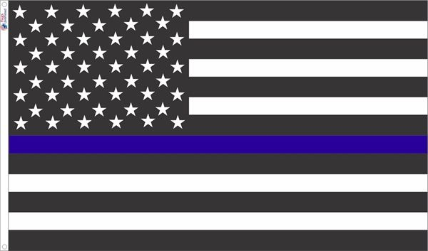 USA Style Thin Blue Line Flag from Flags Unlimited | US Flags
