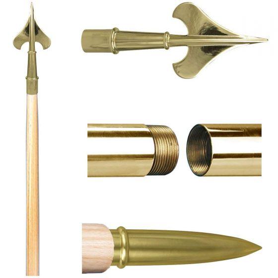 """1/"""" o.d. Brass Standard Ferrule for indoor wood poles 7//8/"""" i.d"""
