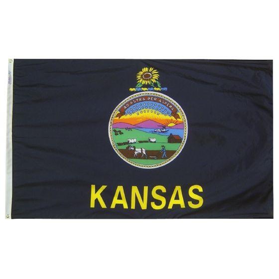 3/'/' or 5/'/' Kansas State Seal Car Bumper Sticker Decal