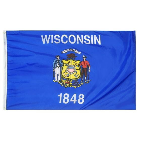 Wisconsin State Flag Us Flags